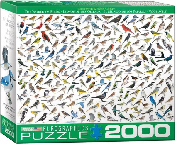 Sibley birds puzzle - 2000 pcs